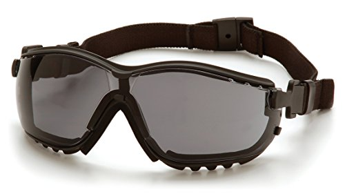 Pyramex V2G Safety Glasses, Black Frame/Gray Anti-Fog Lens