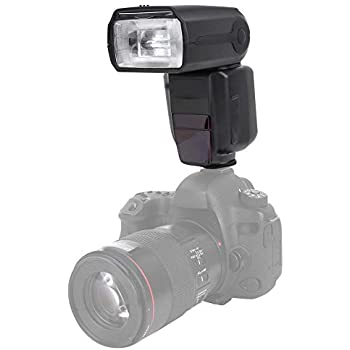 Flash Speedlite for Olympus DSLR Cameras Photography and Other Cameras with Hot Shoe Pomya Professional Speedlite Wireless Camera Flash with rotatable LCD Screen