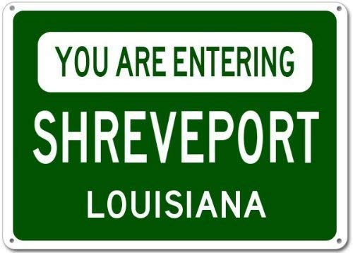 Metal Tin Sign You are Entering Shreveport, Louisiana City Sign - Heavy Duty Vintage Retro Aluminum Sign for Wall Decor 8x12 Inch (Shreveport Gardens)