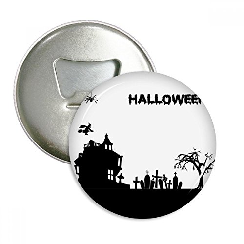 Trees Happy Ghost Fear Halloween Round Bottle Opener Refrigerator Magnet Badge Button 3pcs Gift