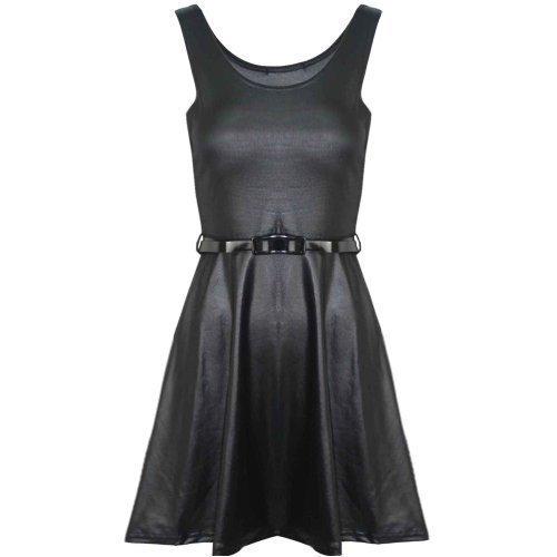 Pure Fashion Damen Skater-Kleid Ärmellos Mehrfarbig