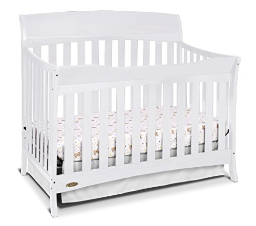 Grow Sleigh Crib (Graco Lennon 4-in-1 Convertible Crib, White)