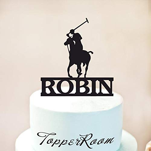Wini2342ckey Polo Cake Topper,Polo Player Cake Topper,Polo Player Birthday,Polo Party,Polo Decor,Polo Party Supplies,Personalized Cake Topper
