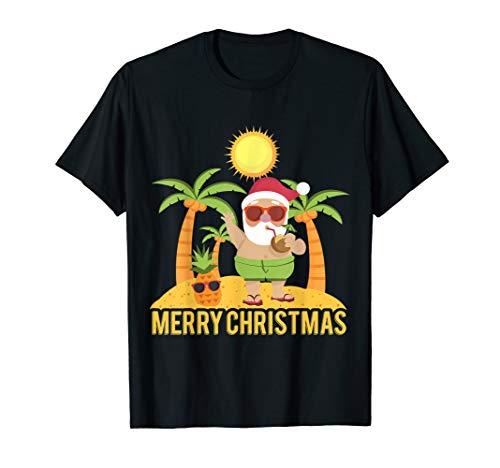Funny Santa Claus Summer Shirt Christmas -