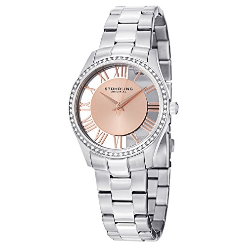 Stuhrling Original Women's 750L.05 Classic Ciara Analog Display Swiss Quartz Silver Watch
