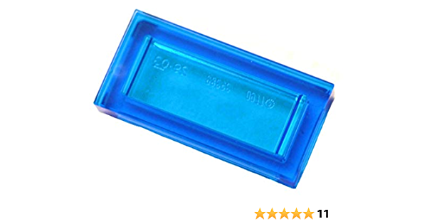 ** 25 Ct Lote ** Lego nova luz azulada Cinza 1 X 2 modificado com 2 tijolos furo lateral