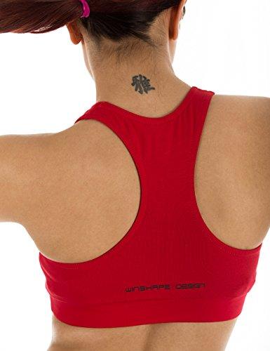 Winshape WVR1 Soutien-gorge de sport pour femme Pour loisirs XL Rouge - Rouge