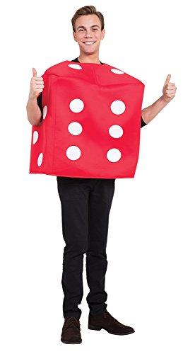 Bristol Novelty AF024 Poker Dice Costume, Red, One Size