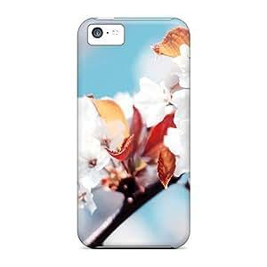 LJF phone case OCMhPko4706ErWMs Faddish White Flowers Case Cover For ipod touch 4