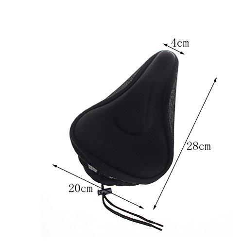 ofoen Gel Bike Seat Cover Waterproof Gel Bicycle Seat Bike Cushion Saddle Cover Suitable for Mountain Bike Seat and Road Bike Saddle Black