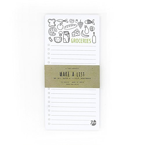 7mm Between the Lines Groceries, 75 Leaves, Printed Checklist Notepad, 10.5 x 22 cms (B075D7RKRX) Amazon Price History, Amazon Price Tracker