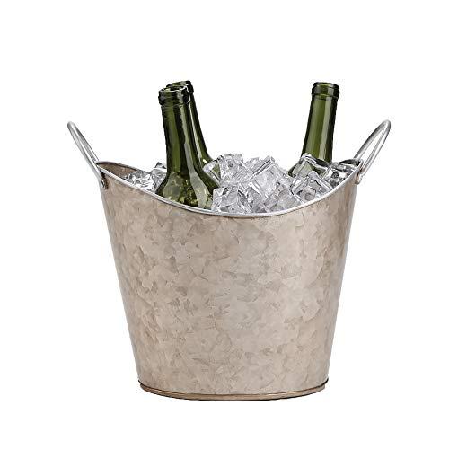 (Mind Reader GALIWINE-BRN Beverage Tub Bucket Copper Plated Galvanized, Heavy Duty, Brown, One Size, Ice)
