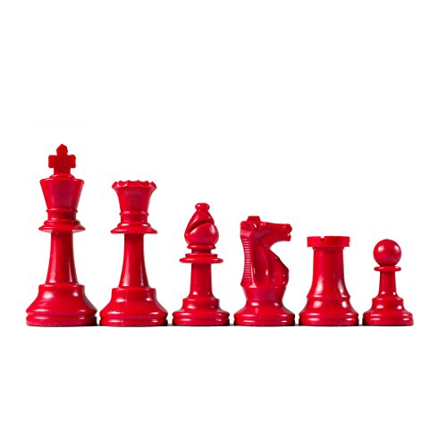 (Wholesale Chess Staunton Colored Chess Pieces (Red))