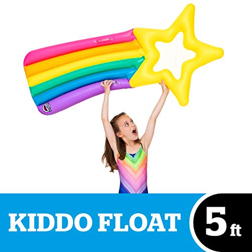 BigMouth Inc. Kiddo Float, Inflatable Shooting Star Pool Raft, Durable, and Safety-Tested Vinyl, Includes Patch Kit, 5' Long ()