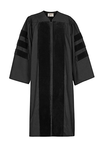 GraduationMall Classic Doctoral Graduation Gown 60(6'3
