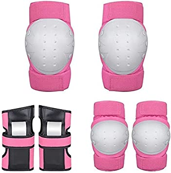 SENPANG Kids /& Adults Knee and Elbow Pads with Wrist Guards Protective Gear Set