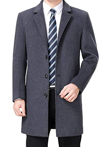 Trench Thick Jacket Warm Men's Business Grey Fashion And And Coat Section Medium Winter Long In Autumn Woolen Coat RRP1Wx