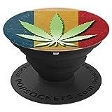 Romanian Flag Marijuana Leaf Romania Wee