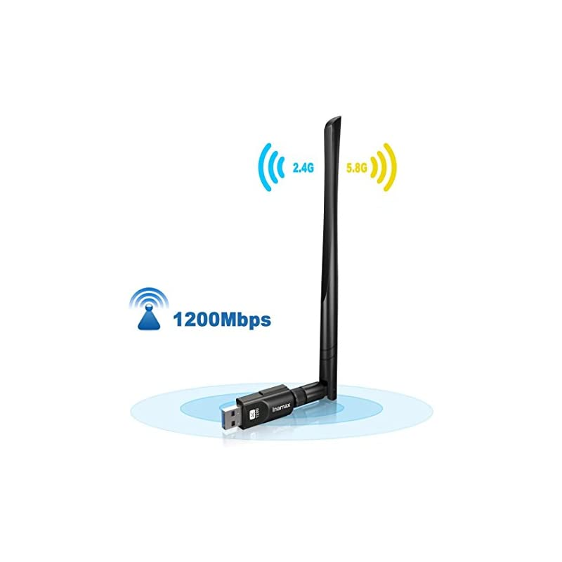 Inamax USB Wifi Adapter 1200Mbps, USB 3.