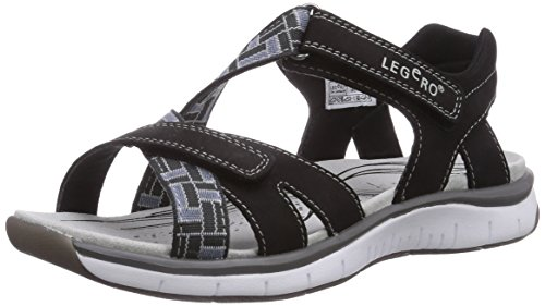 Legero Venetiaanse Ladies Ankle Strap Sandalen Zwart (black Combinatorische 02)