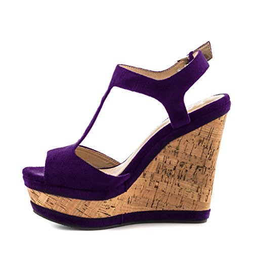 purple wedge heels ha heel