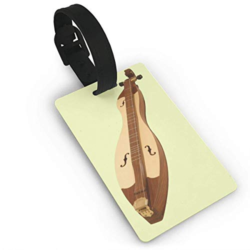 SCcdyhlunsd Dulcimer Music Art Pattern Luggage Tag Duffle Bag Tags Label Size 2.2