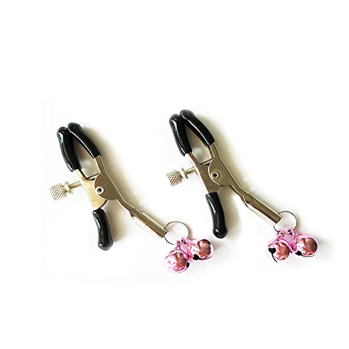 Hocrelov SM Breast Vaginal Nipple Clamps Double Bells Breast Clip Massage-a Pair (Pink)