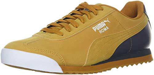 (PUMA Men's Roma Retro Sports Sneaker, Buckthorn Brown-Iron gate White, 9.5 M US)
