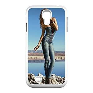Samsung Galaxy S4 9500 Cell Phone Case White Girl in Blue SLI_658977