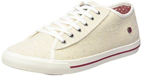 Wrangler Damen Starry Low Sneaker Weiß (381 Off White / Silver)