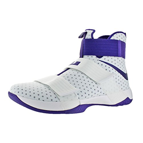 White Shoes Mens Purple NIKE Lebron Soldier 10 Basketball Court xCxqR7w