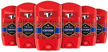 Old Spice Capitán Desodorante En Barra Para Hombres 50 ml, 6 pack ...