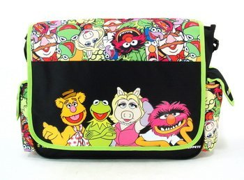 Disney The Muppets Kermit/Ms. Piggy/Animal/Fozzie Messenger Bag-Tote-School