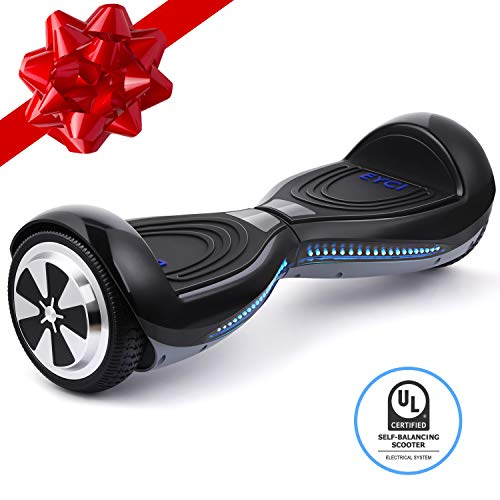 EYCI Hoverboard Electric Self Balancing Scooter UL 2272 Certified Two Smart 6.5 Wheel Scooter with 250W Dual-Motor Ideal Gift for Kids & Adults (Black)