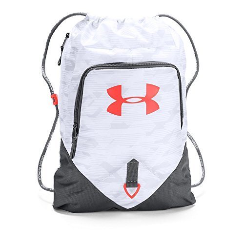 Under Armour Undeniable Sackpack, White/Neon Coral, One Size [並行輸入品] B07F4BJQ5M