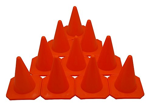 BlueDot Trading Agility Cones (10-Pack), 4-Inch