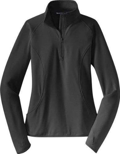 Sport-Tek - Ladies Sport-Wick Stretch 1/2-Zip Pullover. LST850 - Charcoal_M