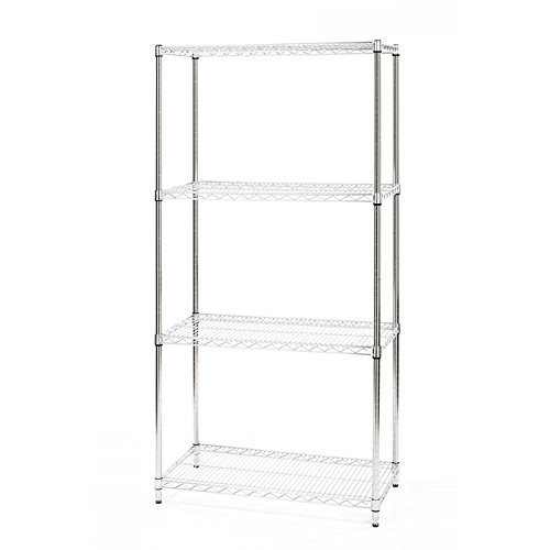Seville Classics 4-Tier UltraZinc NSF Steel Wire Shelving, 18'' D x 36'' W x 72'' H by Seville Classics