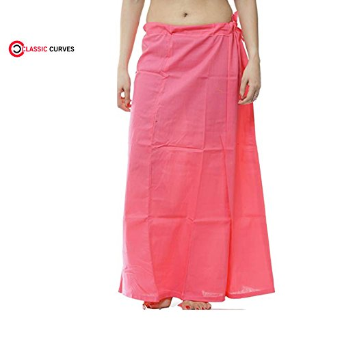 Saree CURVES Indiennes Underskirt Rose des Readymade Coton Peticoat Femmes CLASSIC Inskirt Libre Taille wqnfxq
