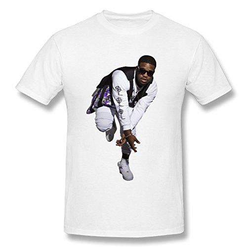 LOHUIOI Men's Shy Glizzy T-shirt Size L White