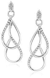Diamond Drop Earrings in White Gold