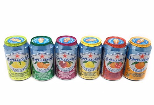 SAN PELLEGRINO ORIGINAL VARIETY TASTERS ADDITION (all Original Varieties Included) 12 Cans in all. BAM Tote Bag - Clementine San