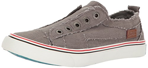 (Blowfish Women's Play Sneaker, Grey, 8.5 Medium US)