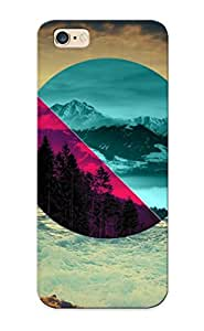 Tpu Fashionable Design Geometry Of Nature Rugged Case Cover For Iphone 6 Plus / Appearance