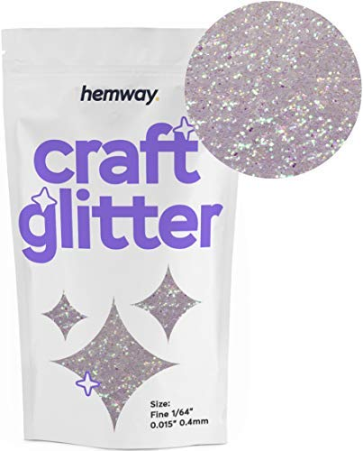 "Hemway Craft Glitter 100g 3.5oz FINE 1/64"" 0.015"" 0.4MM (Mother of Pearl)"