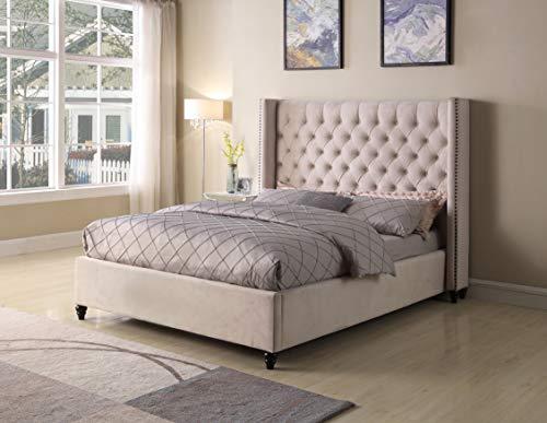 - Best Master Furniture T1920 Holland Tufted Platform Bed, Cal King Beige