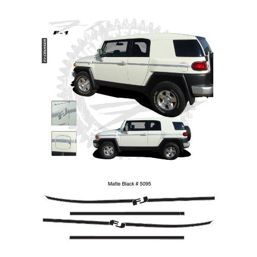 Toyota FJ Cruiser Matte Black Body Side Stripes Graphic Kit - Side Graphic Kit
