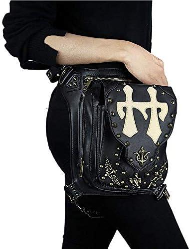 Sacs Gothiques à la Taille, Packs de Rock rétro Steampunk, Sac de Jambe de Sacs à la Taille pour Femmes