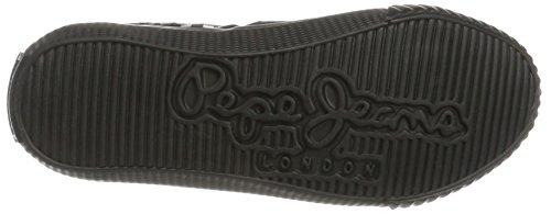 Pepe Jeans London Industry Routes Boys, Zapatillas para Niños Negro (Black)