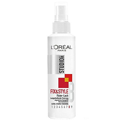 L'Oréal Paris Studio Line Haarlack Fix and Style Fixierlack 24h / Ultra starker und langanhaltender Styling-Lack (angenehmes Haargefühl, ohne zu verkleben, ohne auszutrocknen) 6 x 150 ml
